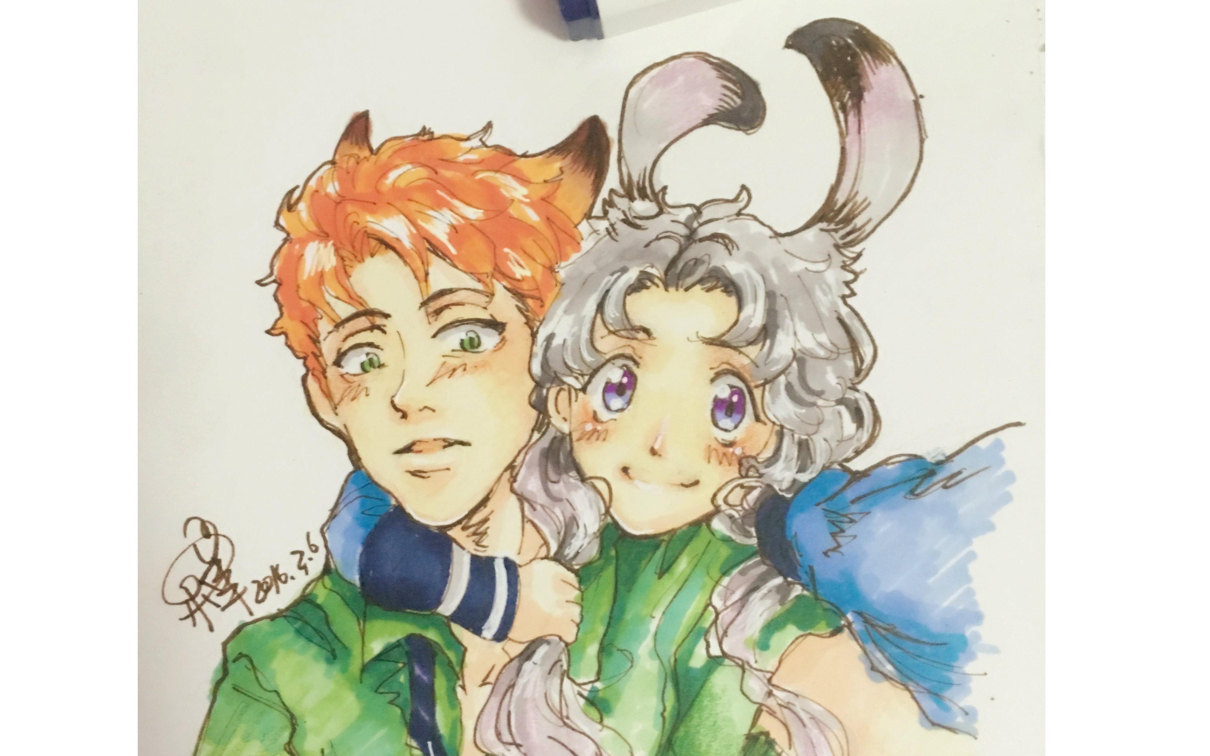 【影梓马克笔】狐狸&兔子(疯狂动物城