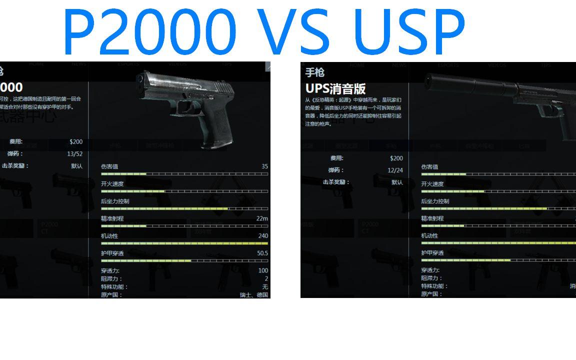 【松鼠】P20 VS USP,手枪局该如何选择? 哔哩哔哩 bilibili