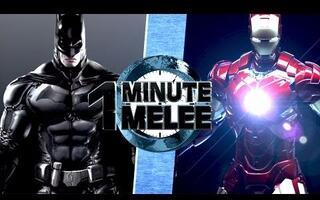 【乱斗60秒】蝙蝠侠VS钢铁侠【One Minute Melee】