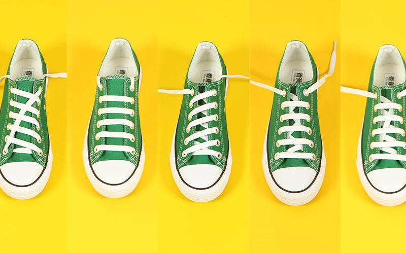 讲究人儿都会的5种平行线鞋带儿系法图片