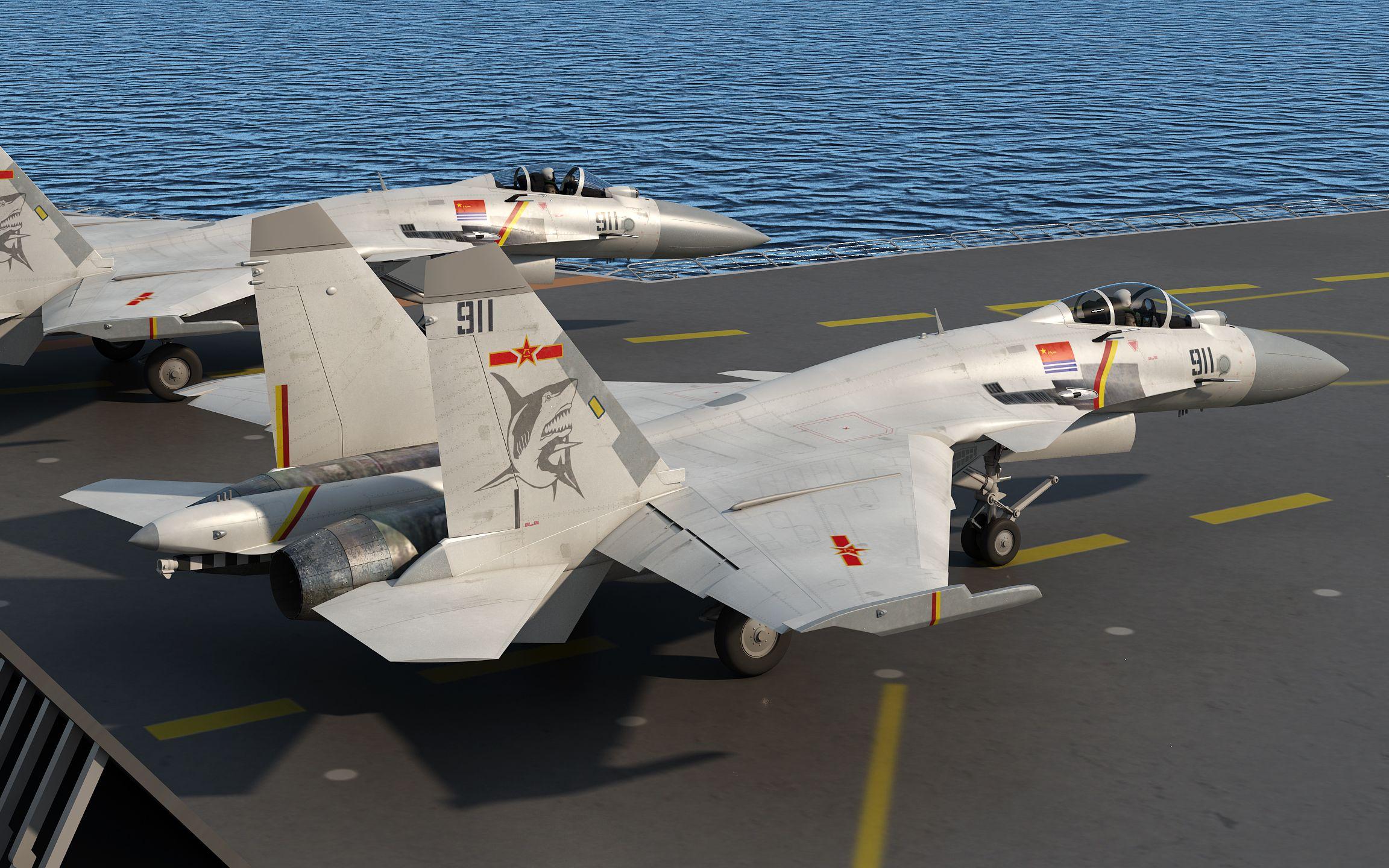 """歼十五""""飞鲨"""",这是第几遍画这型号的飞机已经忘了"""