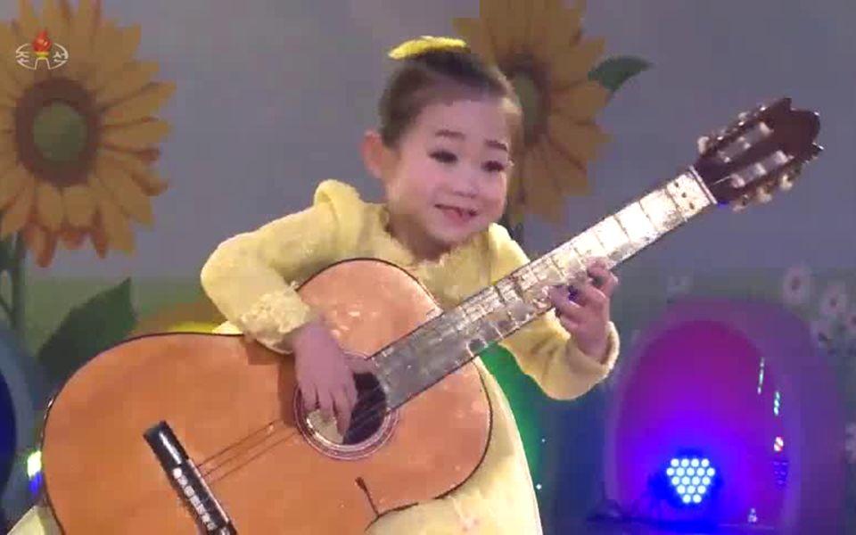 【朝鲜音乐】想见金正恩元帅(吉他伴唱)