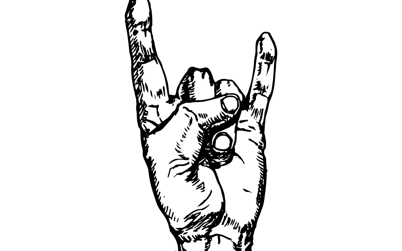 画的是一个摇滚手势图片