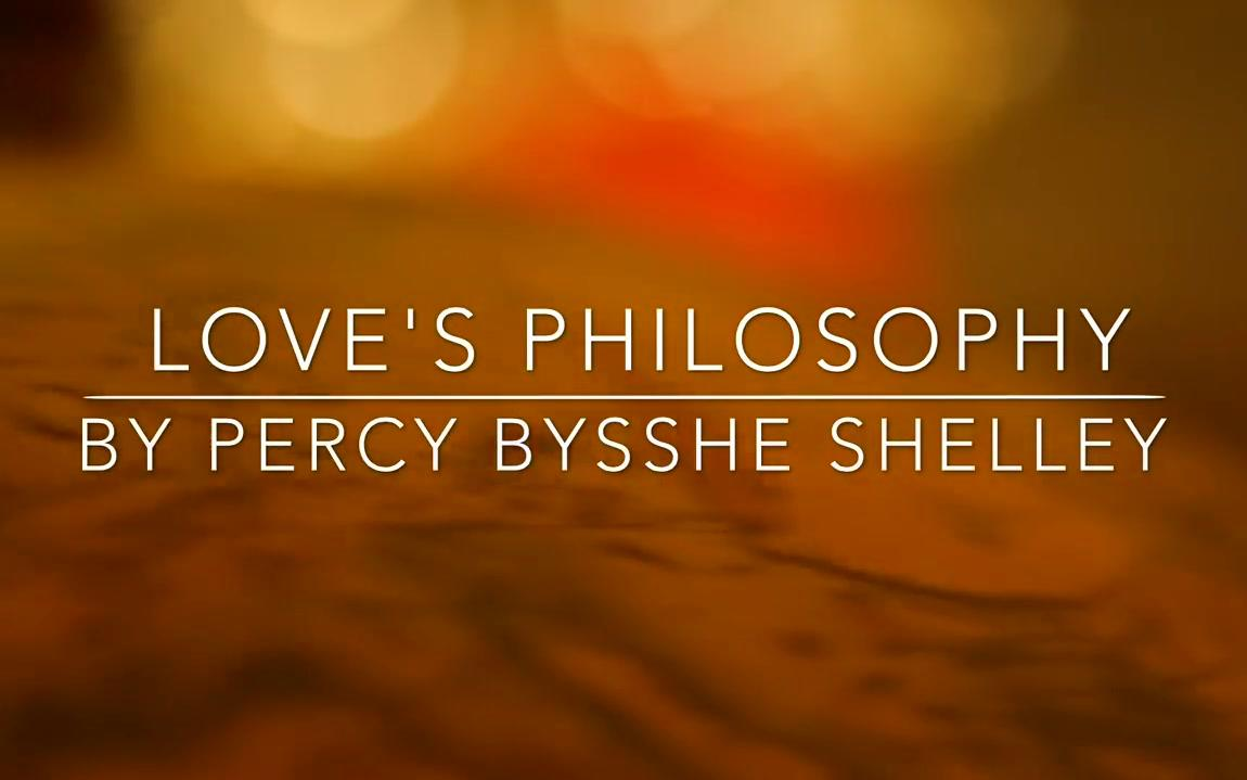 Love's Philosophy by Percy Bysshe Shelly, read by Andrew Cullimore