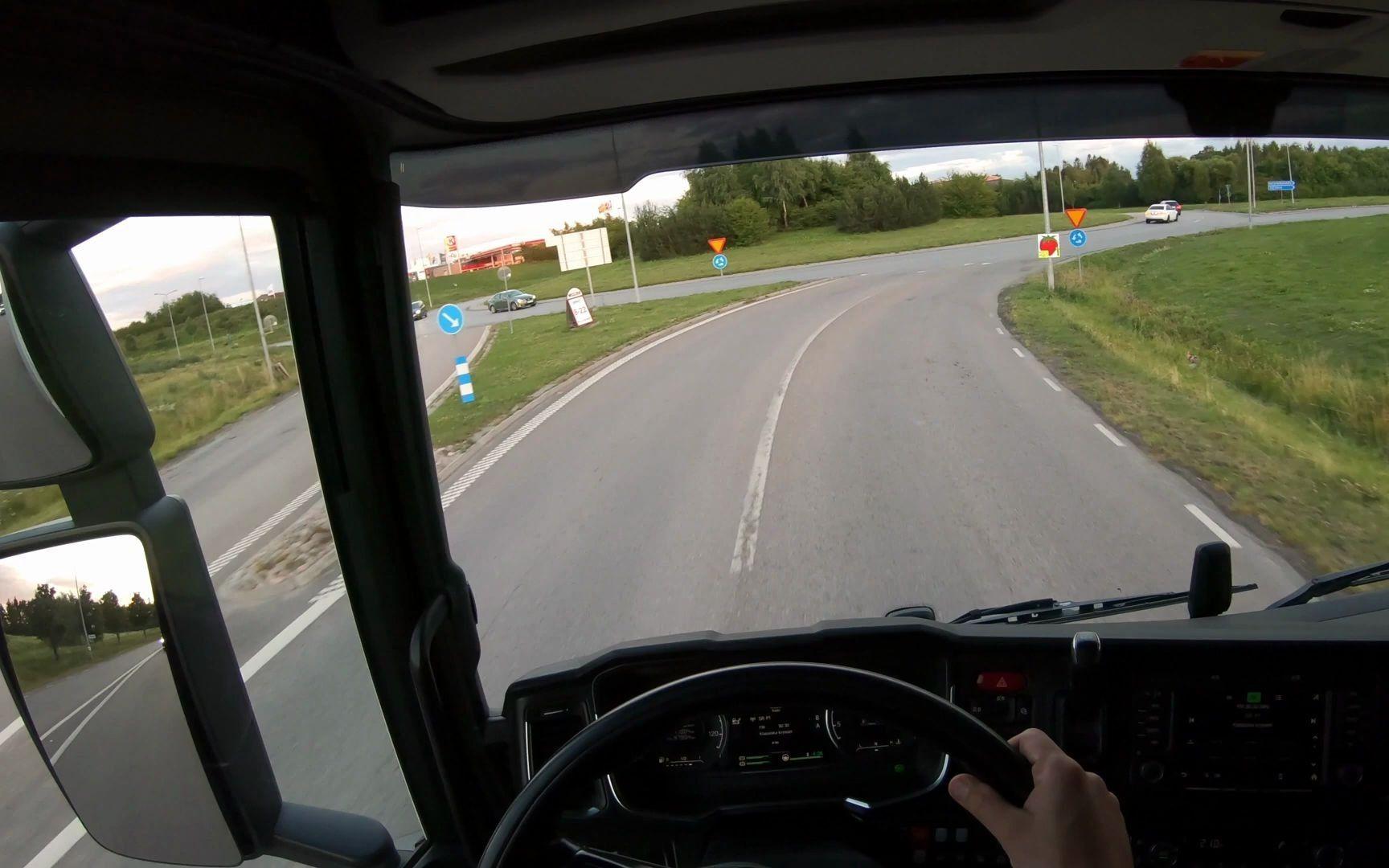 [第一人称驾驶POV] 斯堪尼亚S520的POV驾驶 - 瑞典, 乌普萨拉, 4K