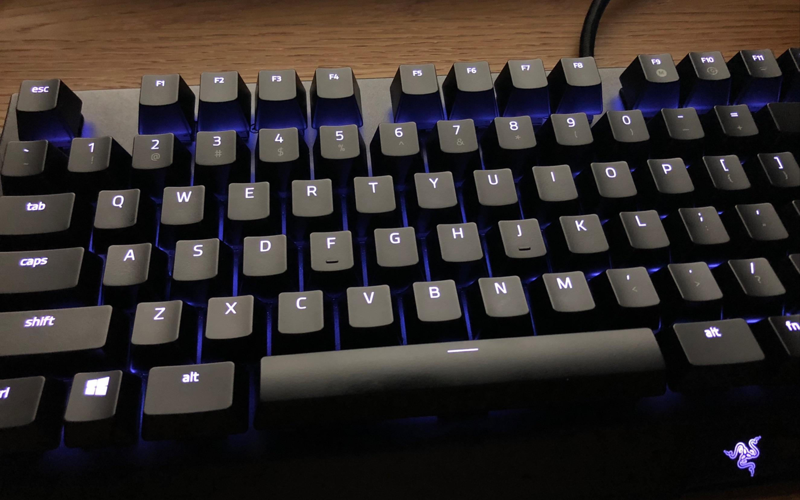 黑轴机械键盘声音_【机械键盘打字声】【雷蛇黄轴】RGB YES!Razer黑寡妇蜘蛛精英版 ...
