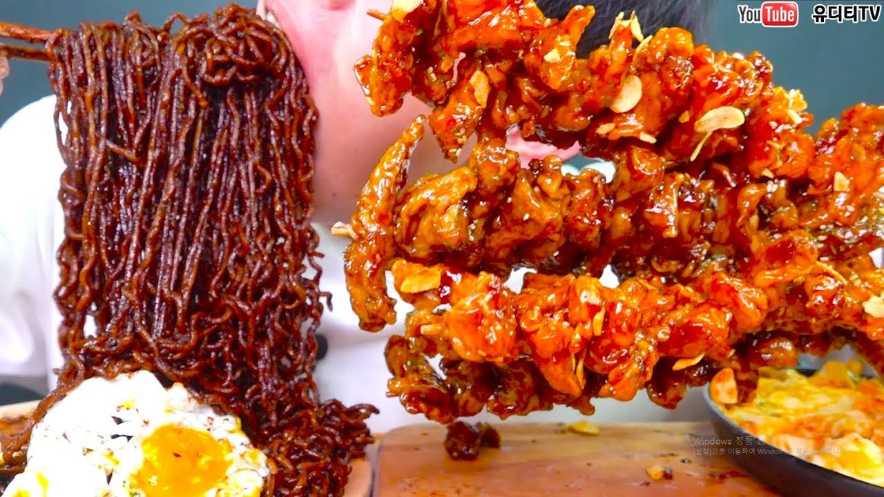 【深渊巨口小哥】三洋新品400元的国民炸酱酱4峰&5种糖醋肉一口两袋式的真实声音吃播REAL SUND MUKBANG(2019年8月23日21时0分)