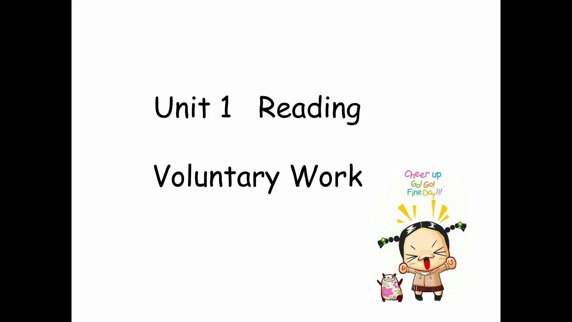 Unit1 Voluntary work