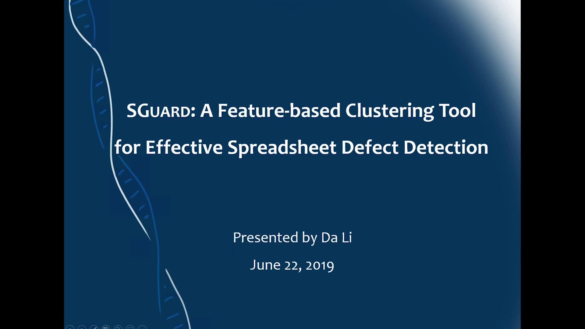 SGUARD: A Feature-based Clustering Tool for Effective Spreadsheet Defect Detect