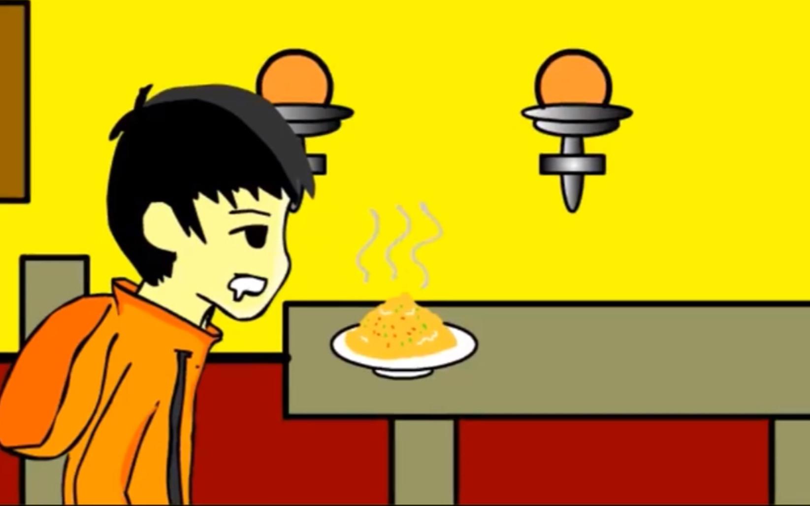 搞笑动画视频短片_不恐怖动画:蛋炒饭_哔哩哔哩 (゜-゜)つロ 干杯~-bilibili