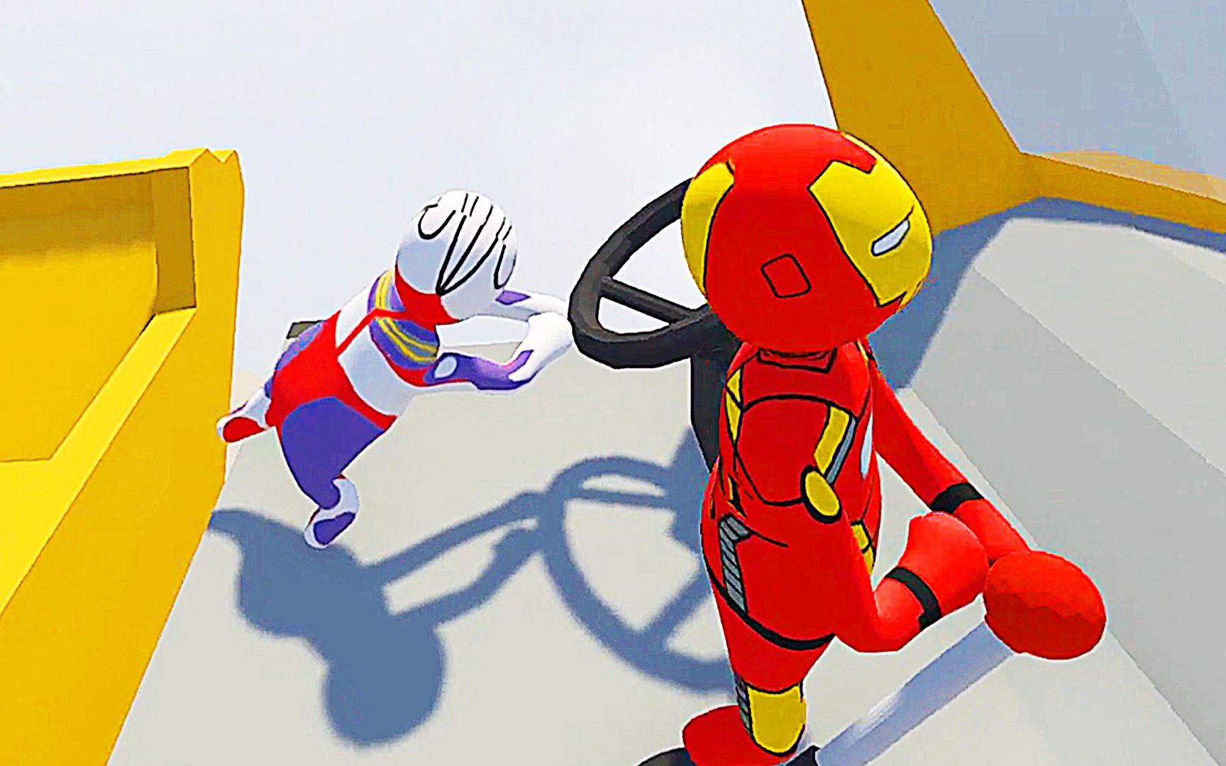 迪迦奥特曼小游戏7k7k_【屌德斯小熙】 基佬大冒险 卡车司机迪迦奥特曼和钢铁侠在 ...
