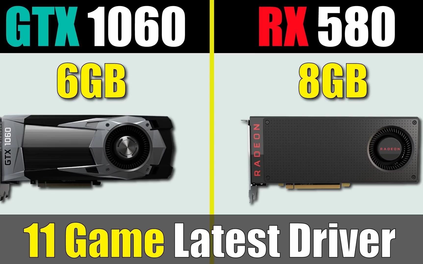 GTX 1060 vs RX 580 最新驱动程序基准测试_哔哩哔哩 (゜-゜)つロ 干杯~-bilibili