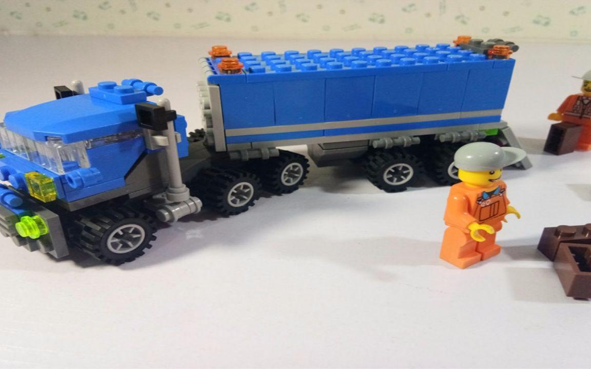 拼装玩具车_玩具动画屋:开智乐高类积木玩具之大卡车、大货车拼装 71_哔哩 ...