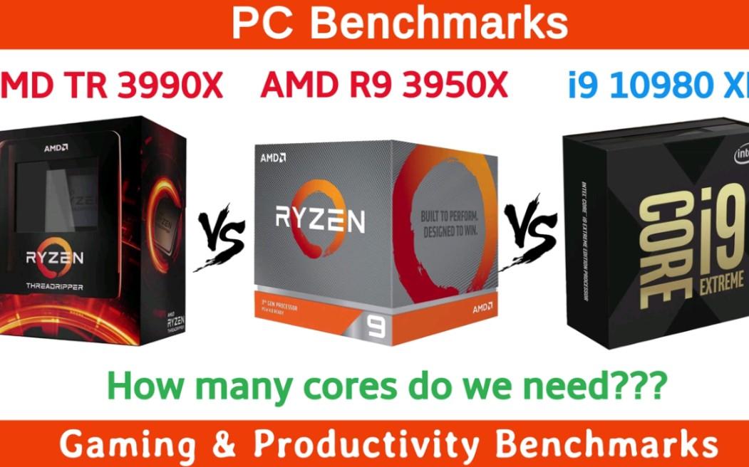 山高水长 物象万千_地表最强cpu对决AMD TR 3990X vs Ryzen 9 3950X vs i9 10980 XE_哔哩哔哩 (゜ ...