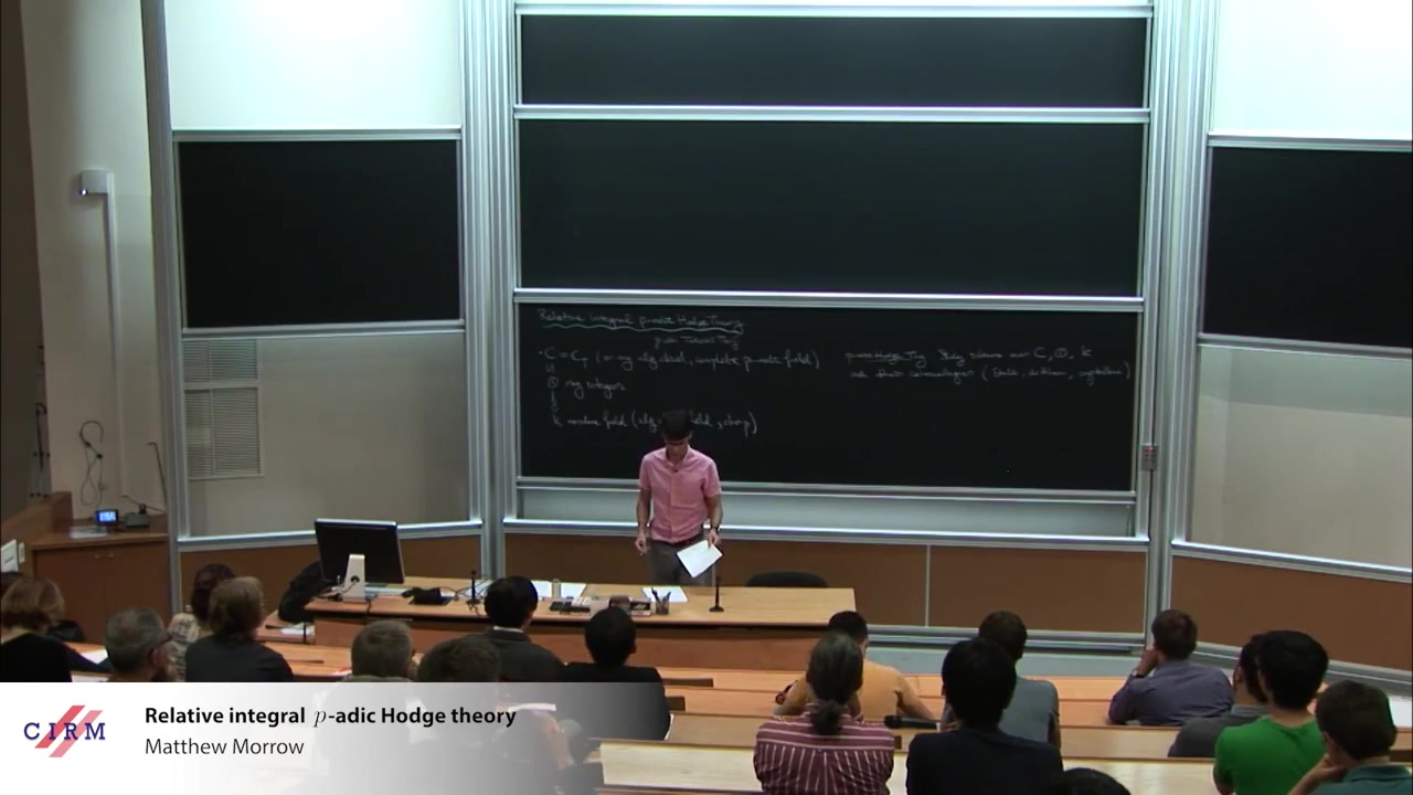 Matthew Morrow_ Relative integral p-adic Hodge theory
