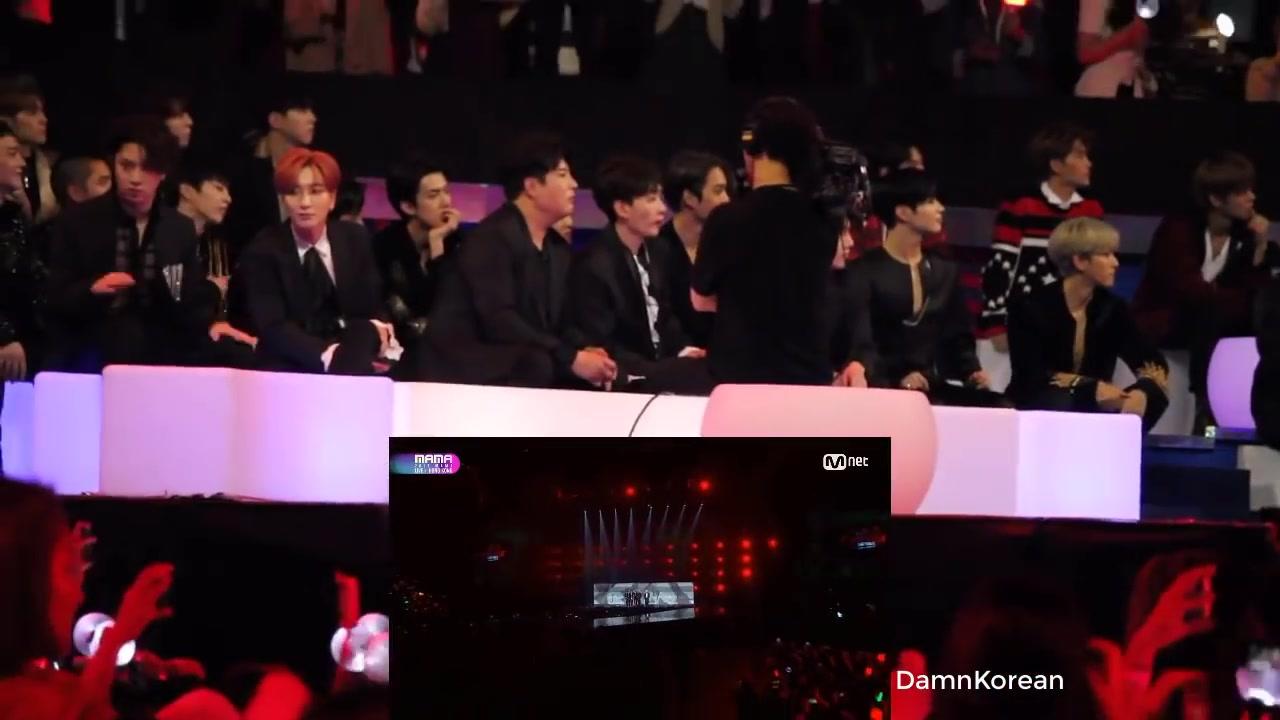 集】2017 MAMA颁奖典礼上各家reaction to BTS 表演舞台(持更