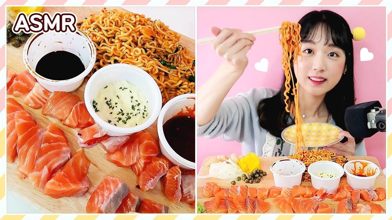 【iluliy】生三文鱼会+芝士火辣炒鸡面有128149;,酸辣,甜美Raw Salmon+Nodle 124469;(2019年11月24日13时9分)