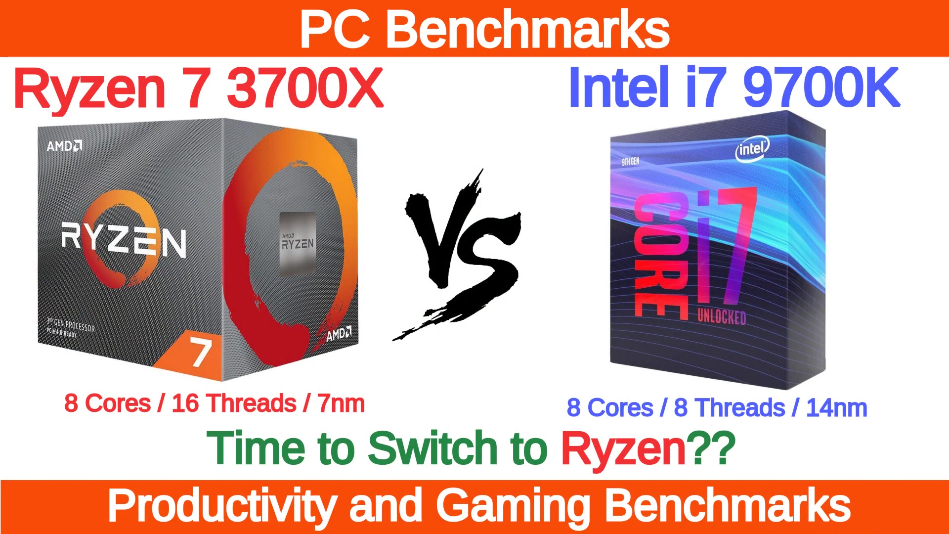 AMD Ryzen 7 3700X vs Intel i7 9700K Benchmarks_哔哩哔哩 (゜-゜)つロ 干杯~-bilibili